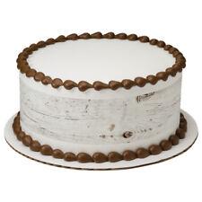 Rustic Wood Barn Edible Cake Border  - Set of 3 Strips (White Wash Color)