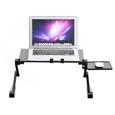 360° Foldable Adjustable Laptop Desk Table Stand Holder Cooling  Fan Mouse Pad