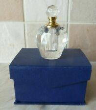 Glass Perfume Bottle Boxed but empty Screw Top