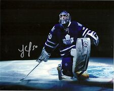 JONAS GUSTAVSSON SIGNED 8X10 PHOTO TORONTO MAPLE LEAFS OILERS AUTOGRAPH