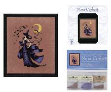 Nora Corbett Mirabilia Cross Stitch PATTERN & EMBELLISHMENT PACK Raven NC222