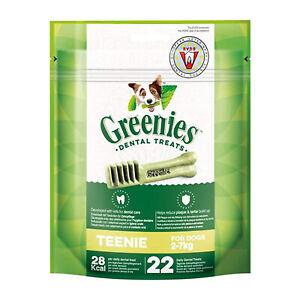 Greenies Dental Treats for Teenie Small Dog Teeth Care Reduce Plaque Tartar 170g