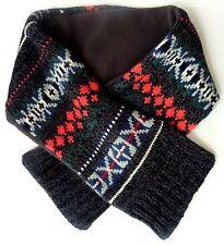 Baby GAP Boy MULTI GREY Fairisle Knitted FLEECE Lined Neck Scarf £9.95