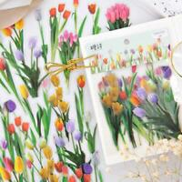 40Pcs Vintage Flowers Plant Stickers Stationery DIY Scrapbooking Decor Sticker