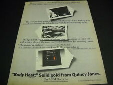 QUINCY JONES 1974 Promo Ad BODY HEAT is Solid Gold original PROMO POSTER AD mint
