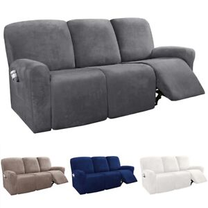 3-Seater Stretch Recliner Slipcovers Furniture Sofa Chair Lazy Boy Cover Protect
