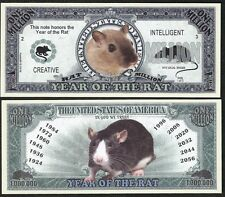 Lot of 500 Bills - Rat Million Dollar Bill, Year of the Rat