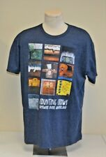 Counting Crows Concert Somewhere Under Wonderland Blue T-Shirt Adult Xxl 2Xl