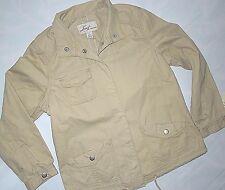 Levi's  Levi womens khaki cotton full snap casual Jacket MEDIUM