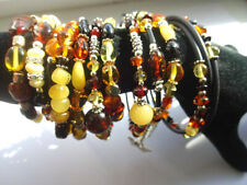 Lot -10 Beautiful Natural  Gemstone Baltic Amber different bracelets
