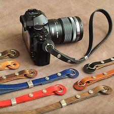 "The 1901 ""Caradog"" Leather Camera Wrist Strap - Light Sepia Tan"