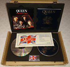 Queen Limited Edition Greatest Hits Vols I & II in wooden Box