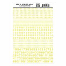 Numbers Dry Transfer Sheet, Gothic RR Yellow Dt - Woodland Scenics MG730