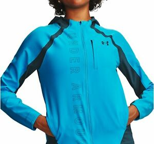 Under Armour Qualifier Outrun The Storm Womens Running Jacket - Blue