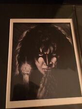 Gene Simmons Kiss 11x14 Matted Print. Signed.