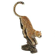 4' African Savannah Pouncing Cheetah Exotic Big Cat Garden Statue Sculpture