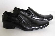 Delli Aldo Fashion Loafers Square Toe Men's Size 7 Etched Cross Black 18355