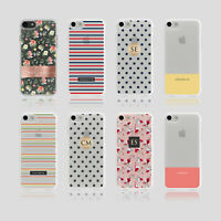Personalised Initials iPhone Samsung Soft Phone Case Shabby Chic Polka Dots