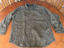 Vintage Woolrich shirt jacket over shirt Mens Wool size large x-large
