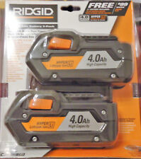 RIDGID 18-Volt HYPER Lithium-Ion High Capacity Battery Pack 4.0Ah (2-Pack)