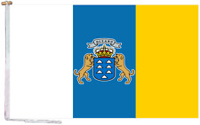More details for canary islands state spain flag with rope and toggle - various sizes