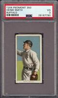1909-11 T206 Heinie Smith Piedmont 350 Buffalo Minor League PSA 3 VG