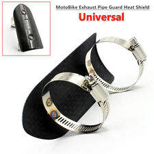 Universal Motorcycle Exhaust Pipe Carbon Fiber Cover Heat Shield Anti-scalding