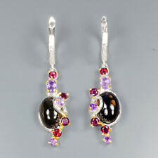 Silver 925 Earrings Natural Smoky Quartz 925 Sterling Silver Earrings /E32534