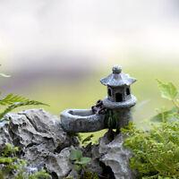 Teich Turm Handwerk Fairy Garten Dekor Figuren Spielzeug Micro Landschaft