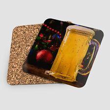 Bière de noël boule 1-Sous verre bock coaster HD cuisine café pub bar restaurant