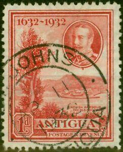 Antigua 1932 1d Scarlet SG82 Fine Used