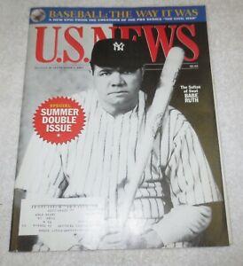 ☆ U.S. NEWS Magazine - BABE RUTH 1994 History of BASEBALL - Double Summer Issue
