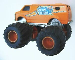 "1985 Matchbox Super Chargers ROLLIN THUNDER Monster Truck 3"" Orange Nice Vintage"