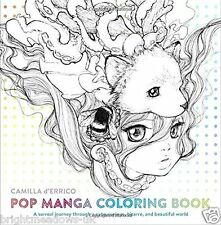 Pop Manga Anime Adult Colouring Book Japanese Beautiful Girls Art Comic  Gift