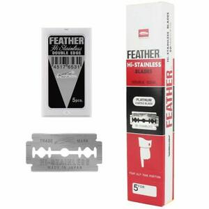 100 Japanese Made Feather Hi-Stainless Double Edge Razor Blades