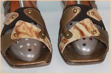 Escarpins  Sandales  J.METAYER Cuir Marron et Bronze T 39 BE