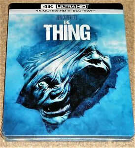 THE THING 4K UHD COLLECTORS STEELBOOK / REGION FREE / IMPORT/ WORLDWIDE SHIPPING