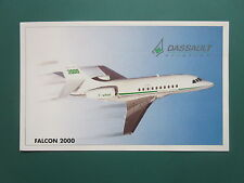 AUTOCOLLANT STICKER AUFKLEBER DASSAULT AVIATION FALCON 2000 BIZJET