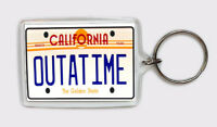 LLAVERO OUT A TIME MATRICULA BACK TO THE FUTURE KEYRING