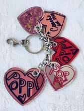 Coach Poppy Heart Key Fob Chain Keychain Bag Charm F92737
