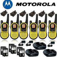 Motorola Talkabout MH230R Walkie Talkie 6 Pack Set 23 Mile Range Two Way Radio