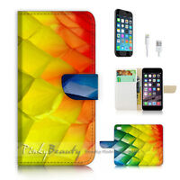 ( For iPhone 6 / 6S ) Wallet Case Cover P2665 Abstract