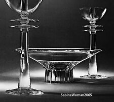 HUGE STEUBEN glass TALL CANDLESTICK PAIR ornaments crystal STERLING SILVER