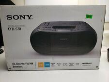 Sony CFD-S70 Portable CD/Cassette, FM AM Radio Boombox Black
