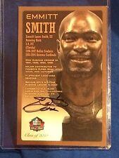 Emmitt Smith 2010 Hall Of Fame Bronze Bust Signed Card HOF Hologram /150