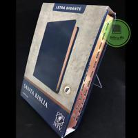 Biblia Letra Gigante 14pt Nueva Traduccion Viviente Azul index Personalizada