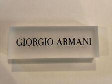 Giorgio Armani Presentation Eyeglasses Plaque