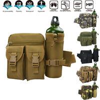 Military Tactical Bottle Waist Pack Hiking Small Belt Bag Cycling Tour Waist Bag