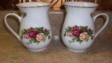 2 ROYAL ALBERT OLD COUNTRY ROSES TALL COFFEE MUGS ESSENTIAL BOX CO. SET 2006