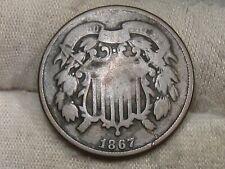 1867 US 2¢ Cent Piece.  #48